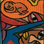 African painting – African abstract painting closeup 1 lrg