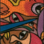 African painting – African abstract painting closeup 2 med