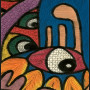 African painting – African abstract painting closeup 3 lrg