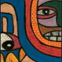 African painting – African abstract painting closeup 4 lrg