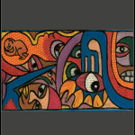 African painting - African abstract painting lrg
