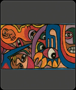 African painting – African abstract painting lrg