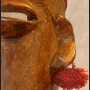 Bambara mask close up of side