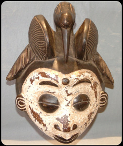 Decorative Gabon Bird Mask lrg