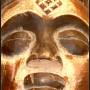 Punu mask closeup of face – African Art – L