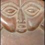 Ancient Opon Divination Board closeup of top med