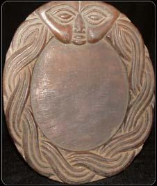 Ancient Opon Divination Board med