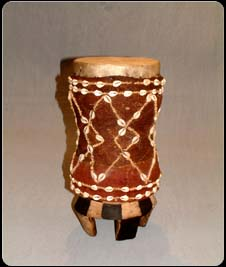 Tchokwe Currie Shell Drum med