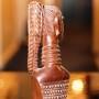 Benin Ebony Wood Female Sculpture